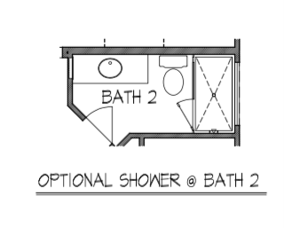 Optional Shower & Bath