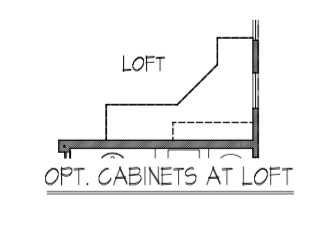 Optional Cabinets at Loft