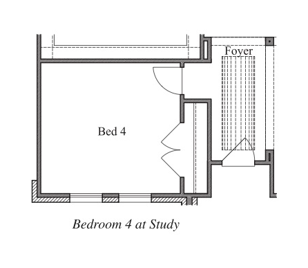 Bedroom 4 at Study