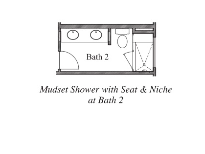 Mudset Shower with Seat and Niche at Bath 2