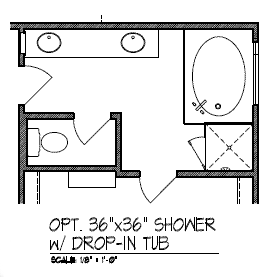 Optional Shower with Drop in Tub