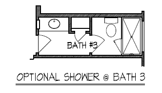 Optional Shower at Bath 3