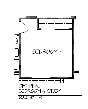 Optional Bedroom 4 at Study