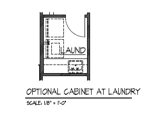Cabinets at Laundry