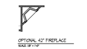 "Optional 42"" Fireplace"