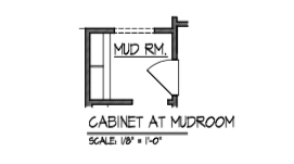 Cabinet at Mud Room