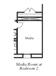 Media Room at Bedroom 2