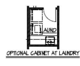 Optional Cabinet at Laundry