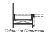 Cabinet at Gameroom