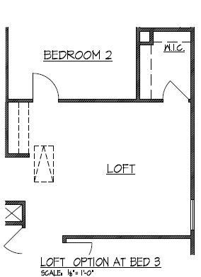 Loft Option at Bedroom 3