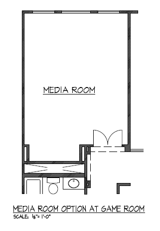 Media Room Option at Game Room