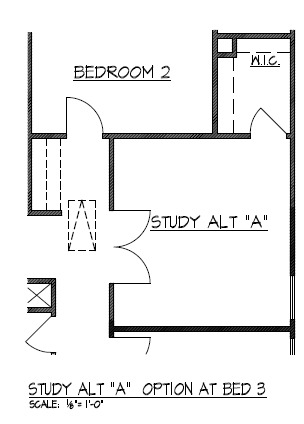 "Study Alt ""A"" Option at Bedroom 3"