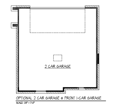 Optional 2 Car Garage @ Front 1-Car Garage