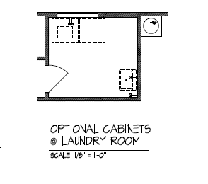 Optional Cabinets at Laundry Room