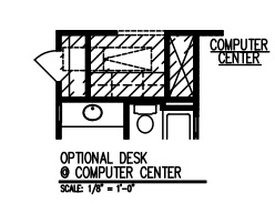 Desk at Computer Center
