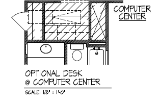 Optional Desk at Computer Center