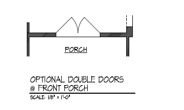 Optional Double Doors at Front Porch