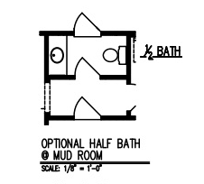 Half Bath at Mud Room
