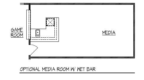 Optional Media Room w/ Wet Bar