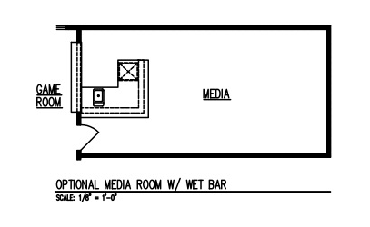 Media Room w/ Wet Bar