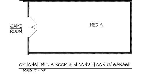 Optional Media Room at Second Floor