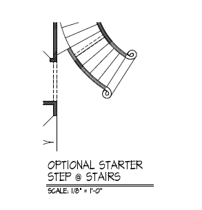 Optional Starter Step @ Stairs