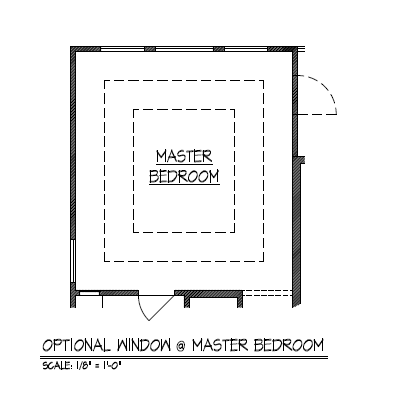 Optional Window at Master Bedroom