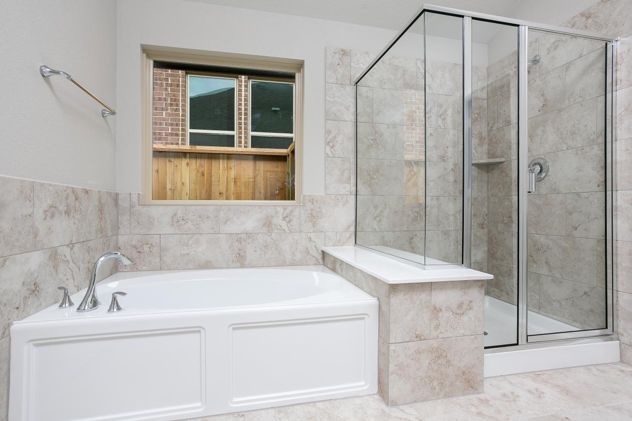 Master Bath Shower and Tub