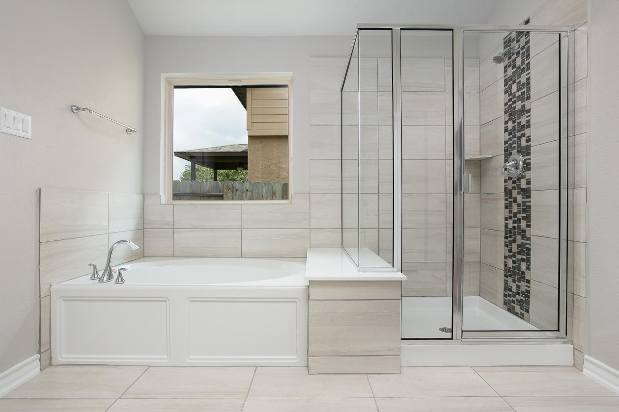 Master Shower and Bath