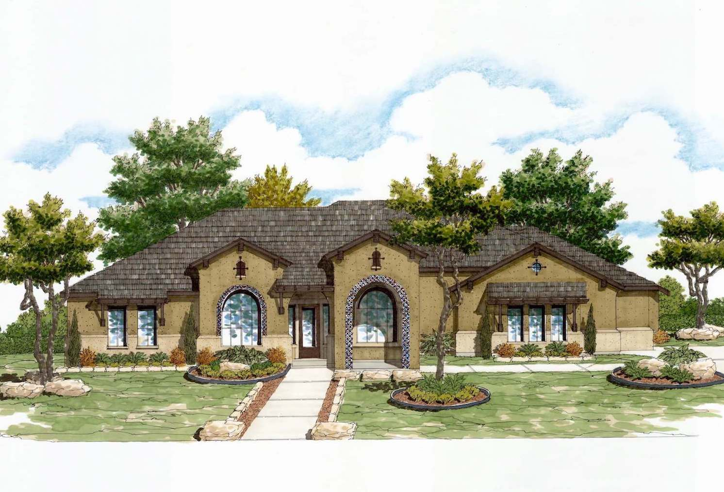 Strange Plan 3494 Texas Homes Home Interior And Landscaping Ponolsignezvosmurscom
