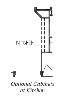 Cabinets at Kitchen