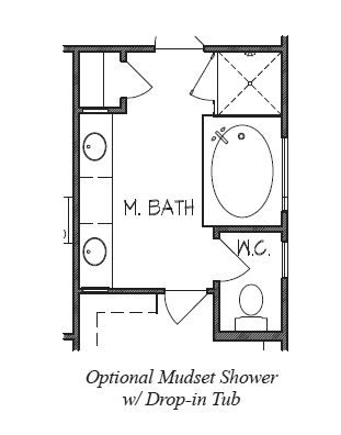 Mudset Shower with Drop-in Tub