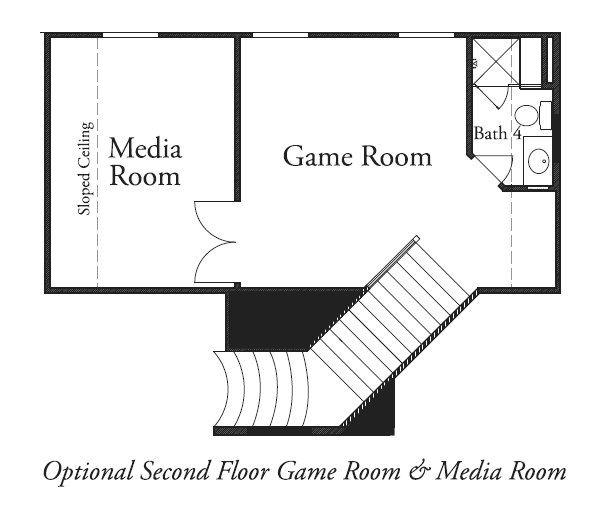 Second Floor Game Room & Media Room
