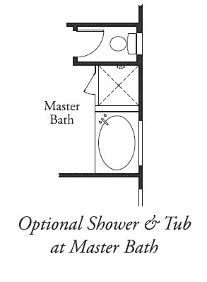 Shower & Tub at Master Bath