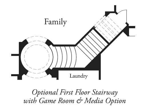 Optional First Floor Stairway with Game Room & Media Option