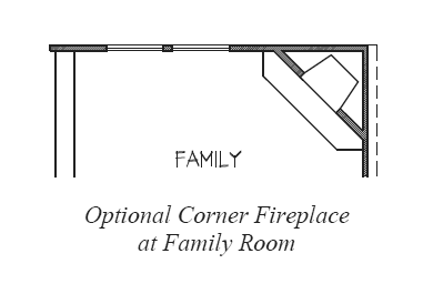 Corner Fireplace at Family Room