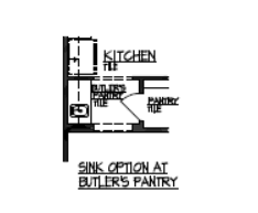 Sink Option at Butlers Pantry