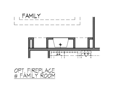 Fireplace at Family Room