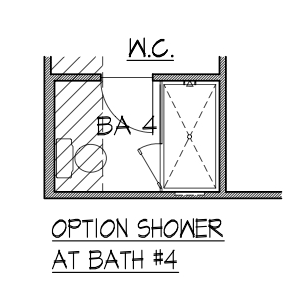 Optional Shower at Bath 4