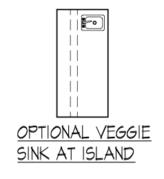 Optional Veggie Sink at Island