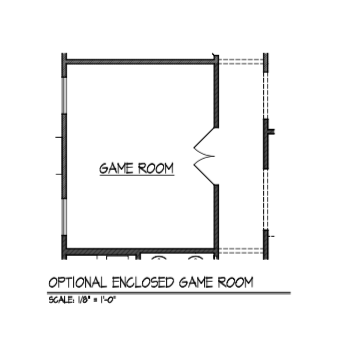 Enclosed Game Room
