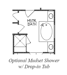 Mudset Shower w/ Drop-In Tub