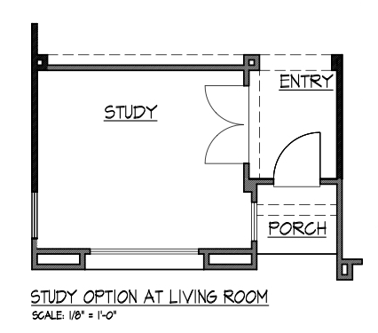 Study Option at Living Room