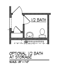 Half Bath at Storage