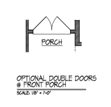 Double Doors at Front Porch