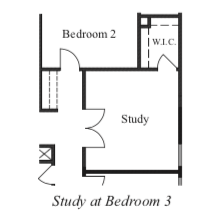 Study at Bedroom 3