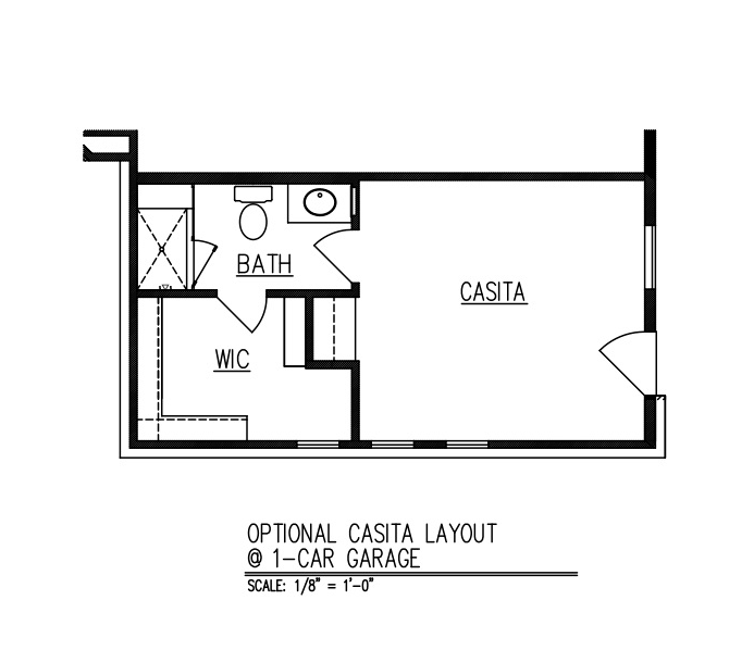 Casita at 1-Car Garage