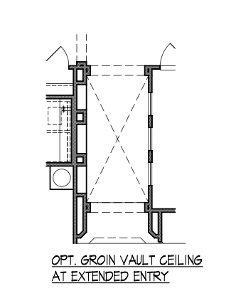 Groin Vault Ceiling at Extended Entry