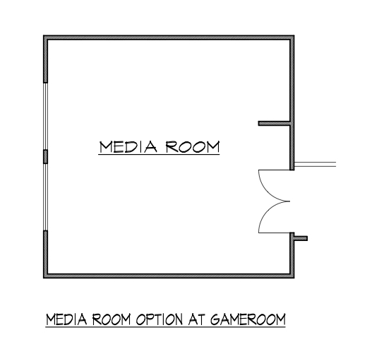 Media Room Option at Gameroom