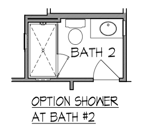 Optional Shower at Bath 2